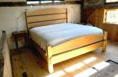 Iron and Wood Bed